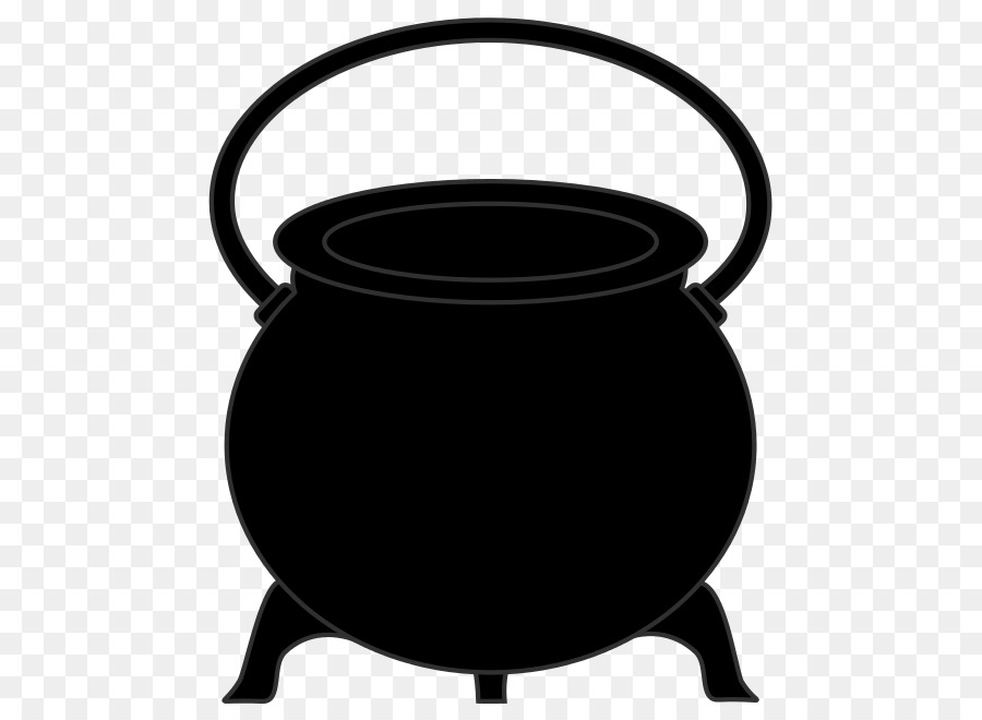 Drawing cookware kettle clip. Cauldron clipart