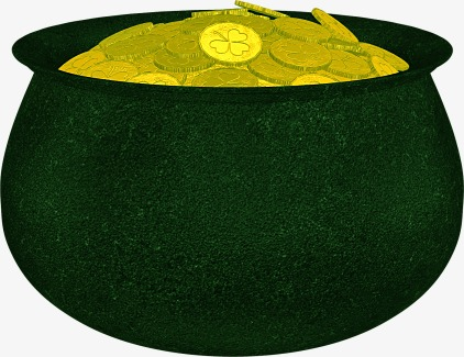 Cauldron clipart. Pot of gold or