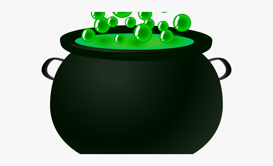 Cauldron clipart. Witchcraft bubbling pot of
