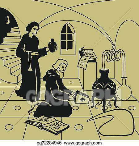Cauldron clipart alchemy. Clip art vector stock