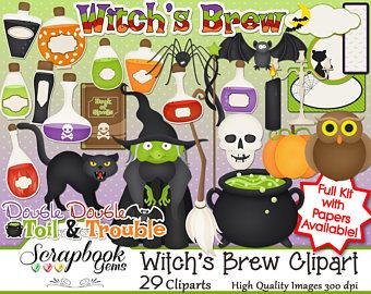 Cauldron clipart alchemy. Potion etsy witchs brew