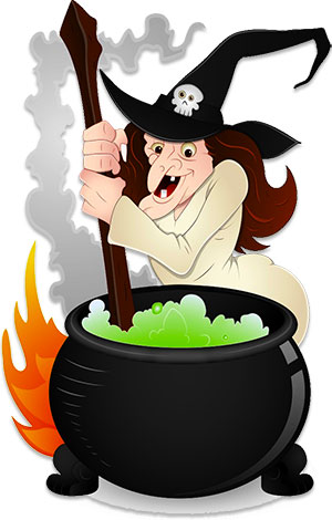 Free graphics animations . Witch clipart animated