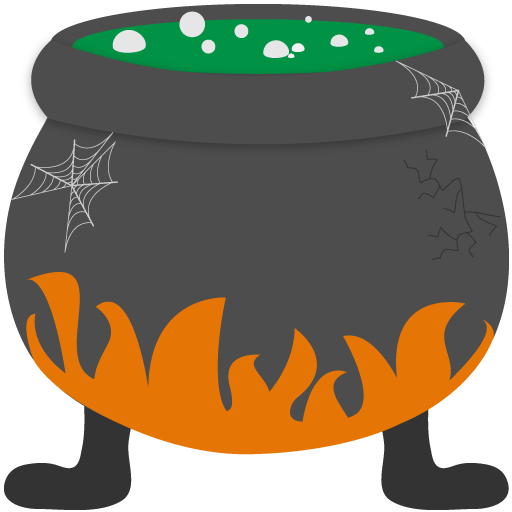 Witches cauldron . Witch clipart stew