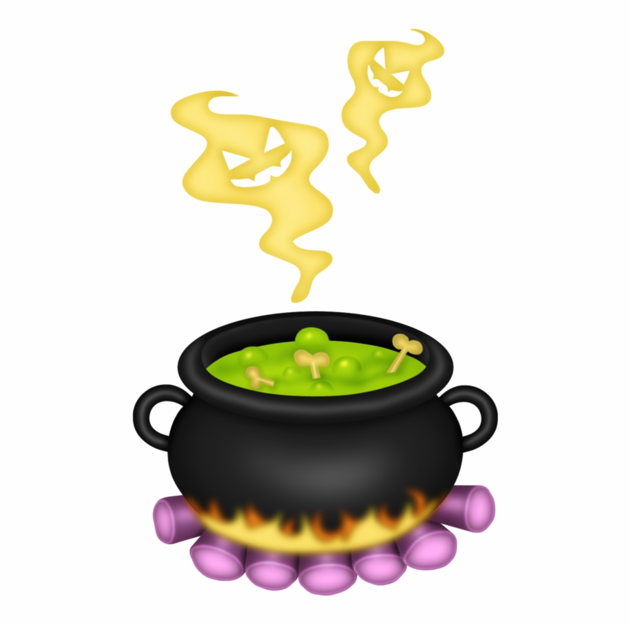 Halloween food witches clip. Cauldron clipart brew