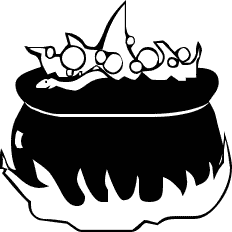 Cauldron clipart brew. Free witches public domain