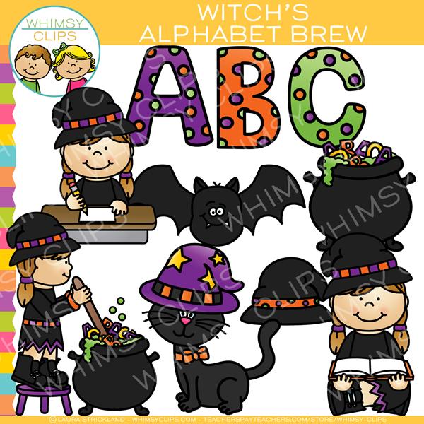 Witch s alphabet clip. Cauldron clipart brew