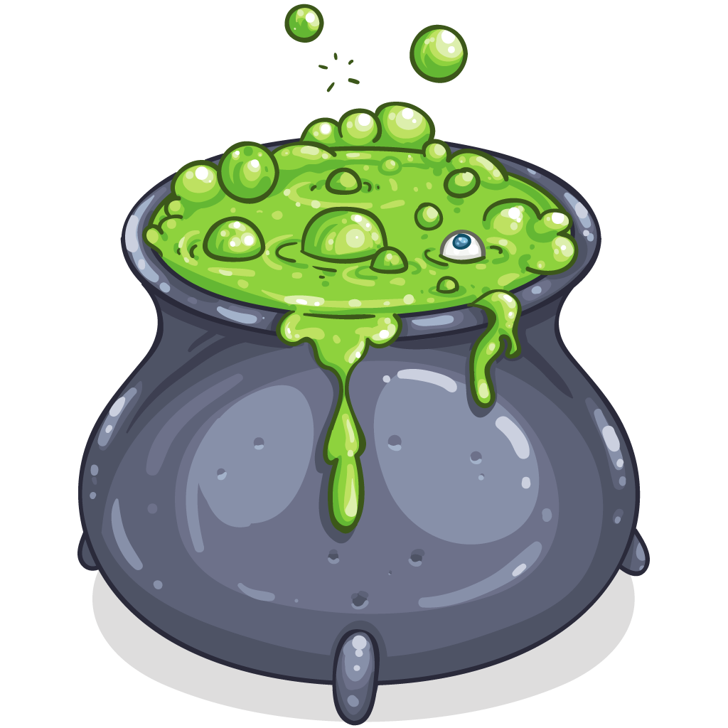 Clipart halloween frog. Item detail bubbling cauldron
