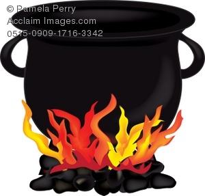 Illustration of a sitting. Cauldron clipart clip art