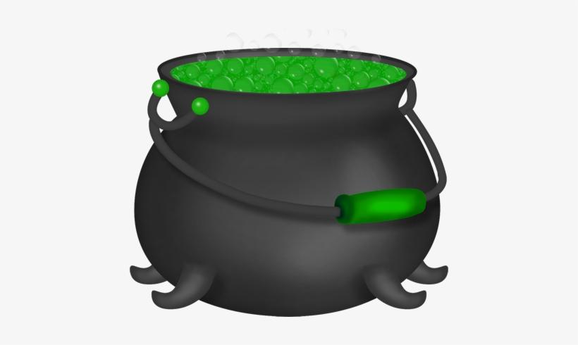 Halloween green witch . Cauldron clipart clip art