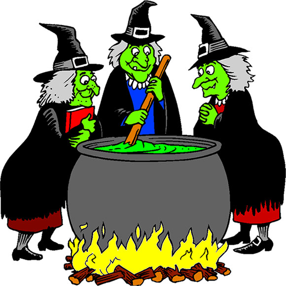Stirring her cauldron witches. Witch clipart cooking