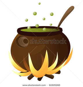 Cauldron clipart cooking. Image a black over