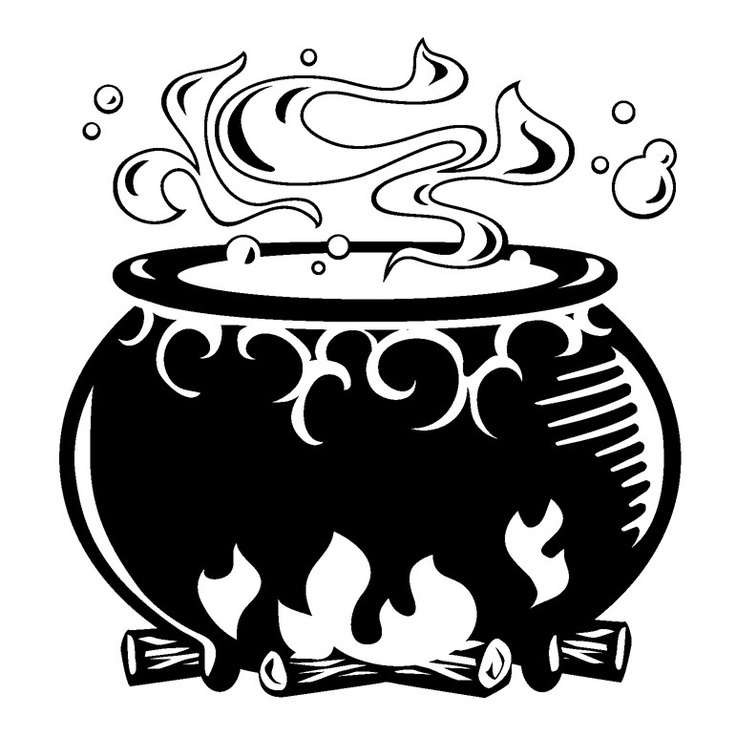 collection of witch. Cauldron clipart drawing