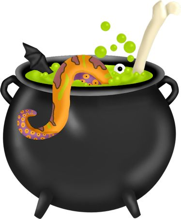 Witch clipart cauldron. Kettle pencil and in