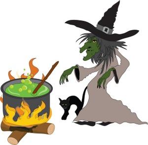 Cauldron clipart kid. Witch clipartix