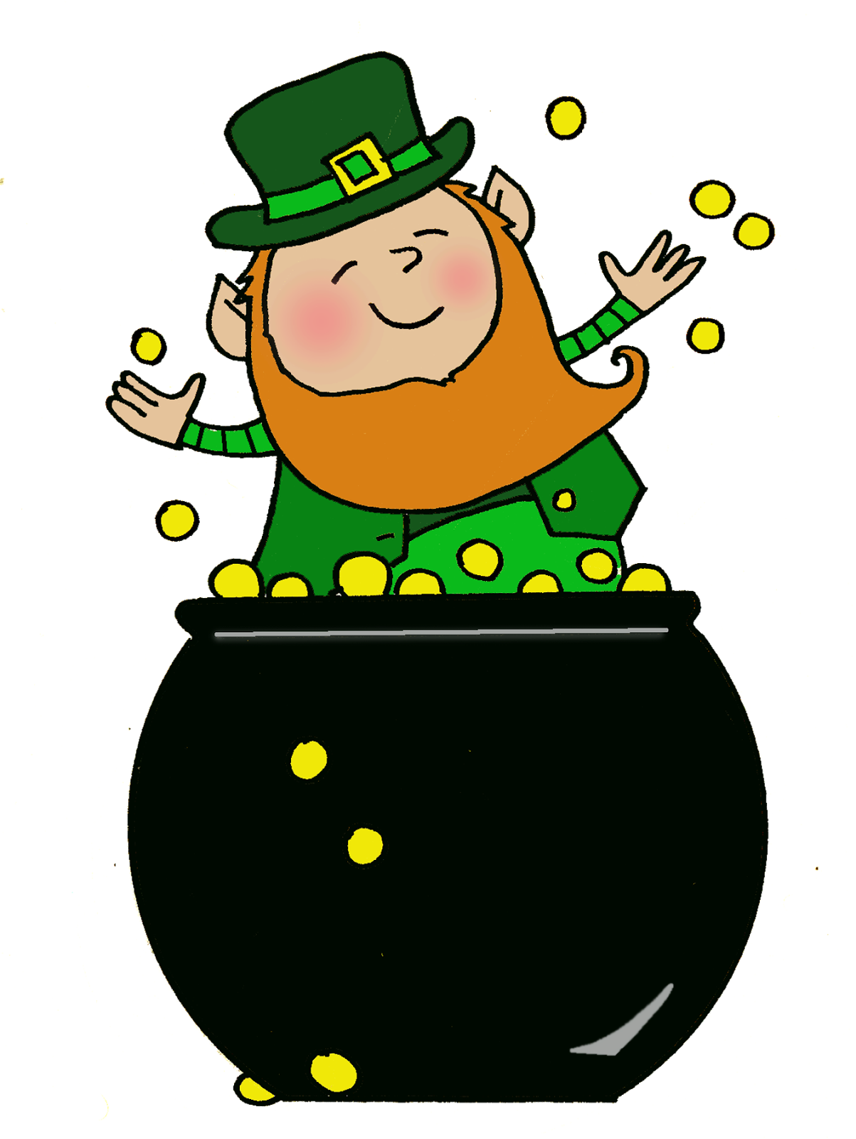 Clipart backpack parachute. Pot of gold leprechaun