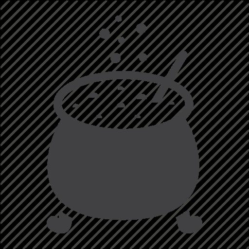 Halloween by fox design. Cauldron clipart magic