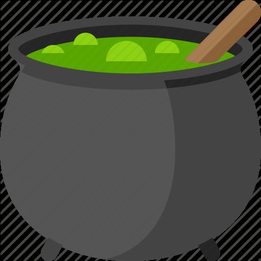 Halloween icon t event. Cauldron clipart potion