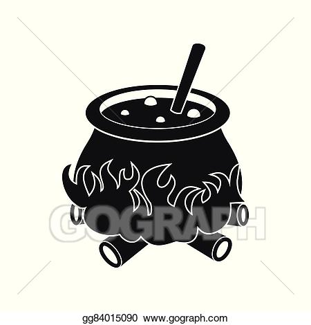 Cauldron clipart potion. Vector art with icon