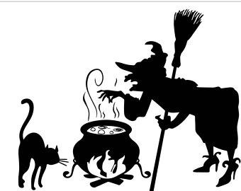 Etsy halloween witch cat. Cauldron clipart svg