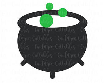 Cauldron clipart svg. Etsy file witchs halloween