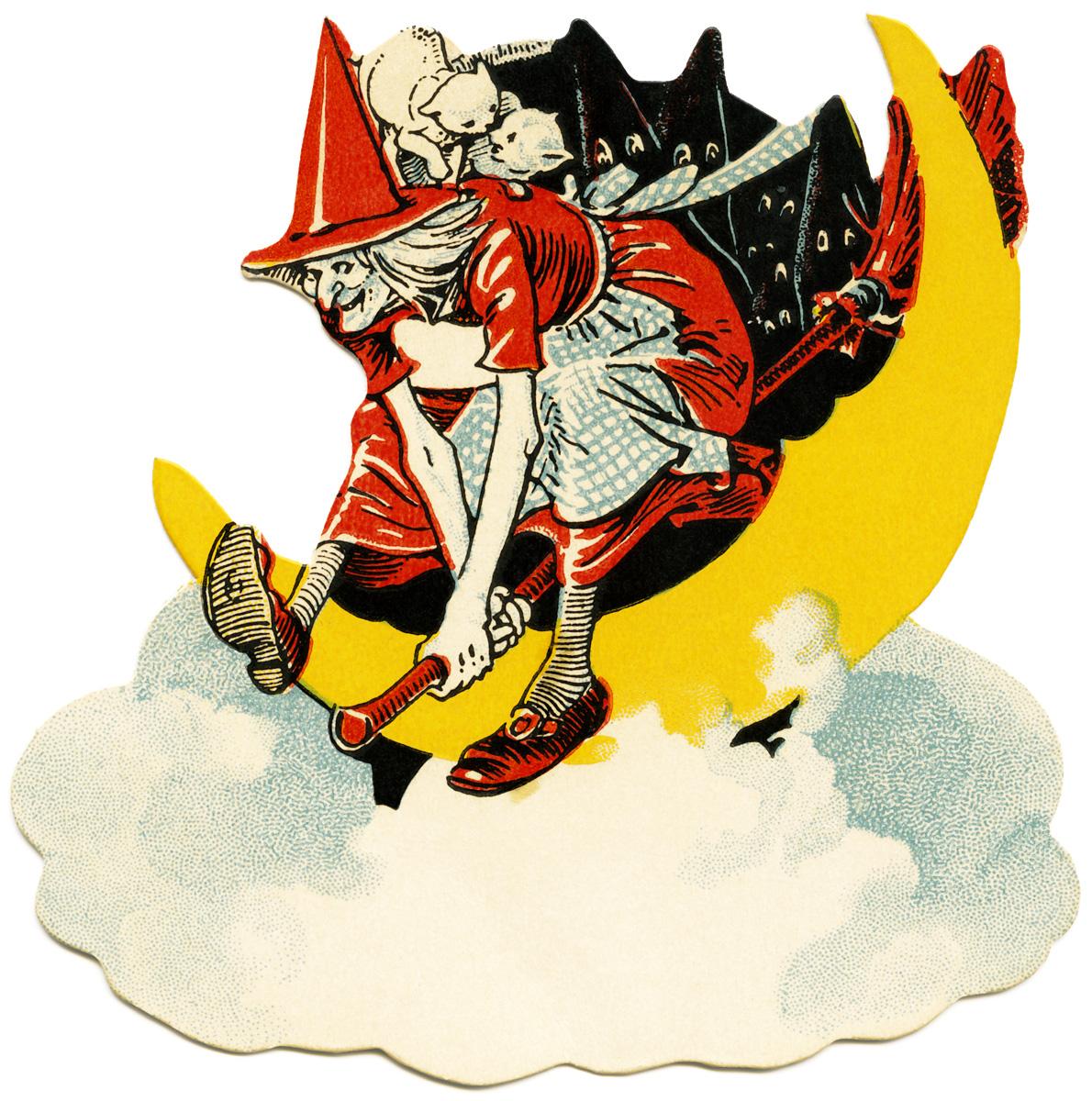 Cauldron clip art old. Witch clipart vintage