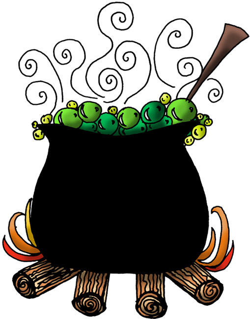 Cauldron clipart witch's brew.  ingredient witches detox