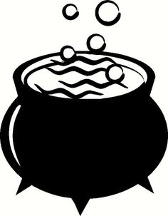 Cauldron clipart witch's brew. Witches vector eps images