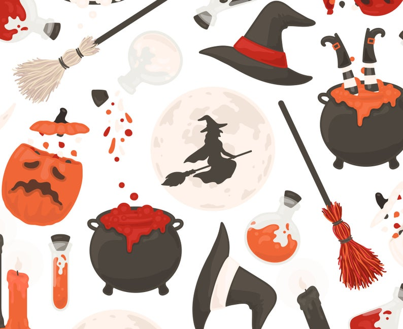 Cauldron clipart witch's brew. Witch halloween s hat