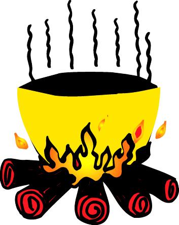 Cauldron panda free images. Heat clipart heating