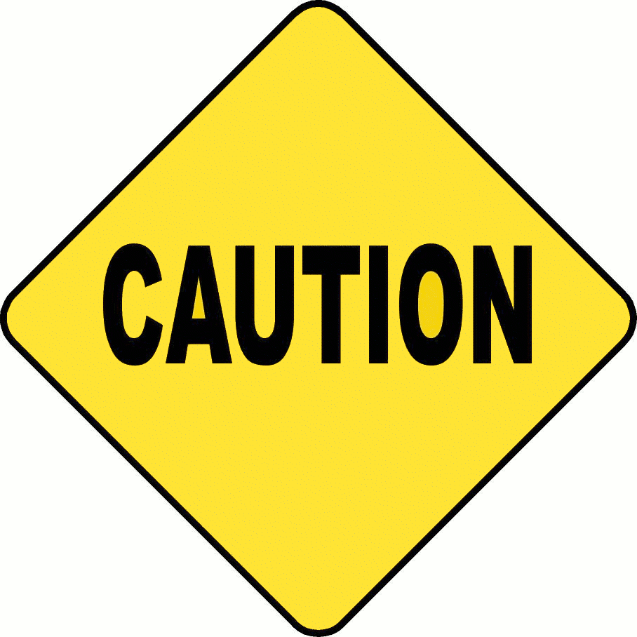 Caution clipart. Sign panda free images
