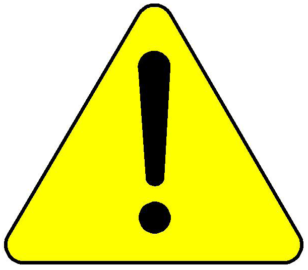 Caution clipart. Be