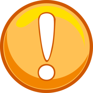 Caution clipart. Orange icon clip art