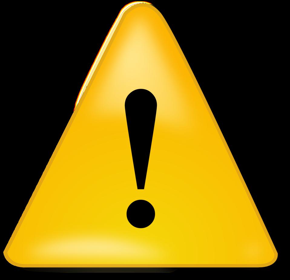 Public domain clip art. Caution clipart
