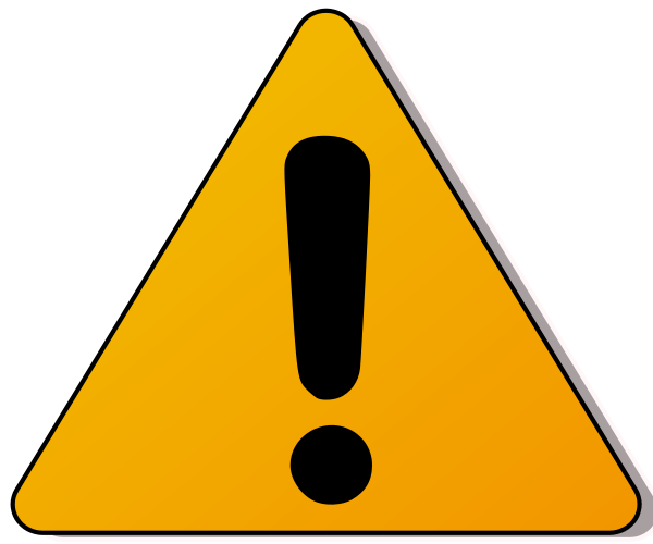Caution clipart. Warning