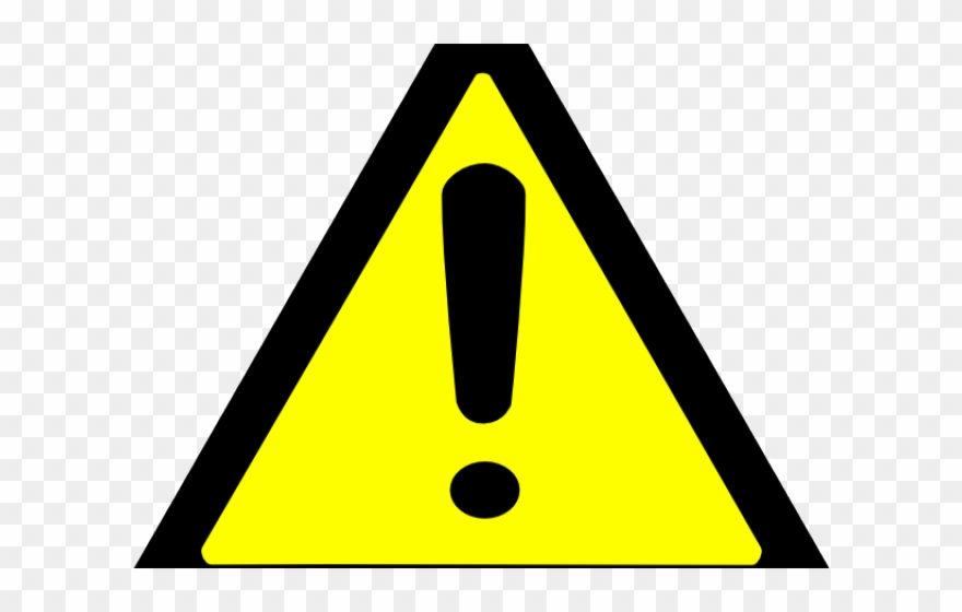 Warning yellow moving parts. Caution clipart