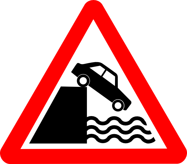 Cliff clipart clip art. Caution water at clker