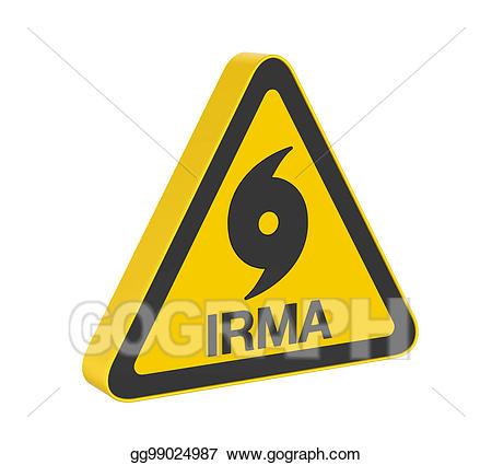 Stock illustration hurricane irma. Caution clipart alert sign