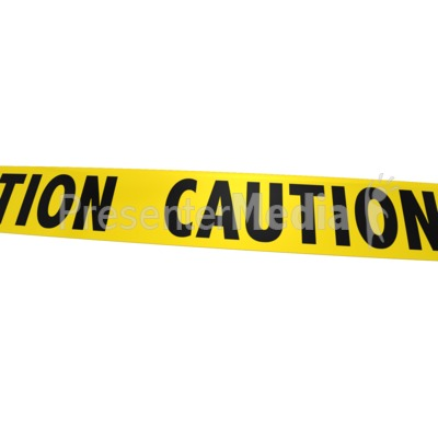 Single piece of tape. Caution clipart background