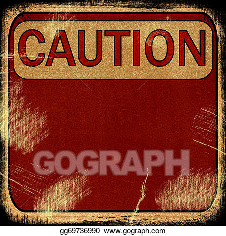 Caution clipart background. Stock illustration word on