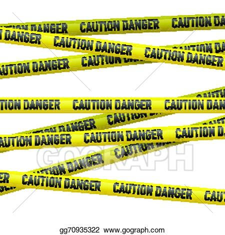 Vector stock and danger. Caution clipart background
