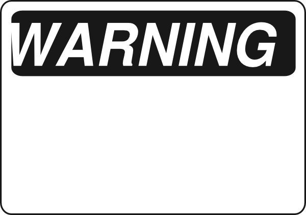Caution clipart black and white. Warning sign clip art