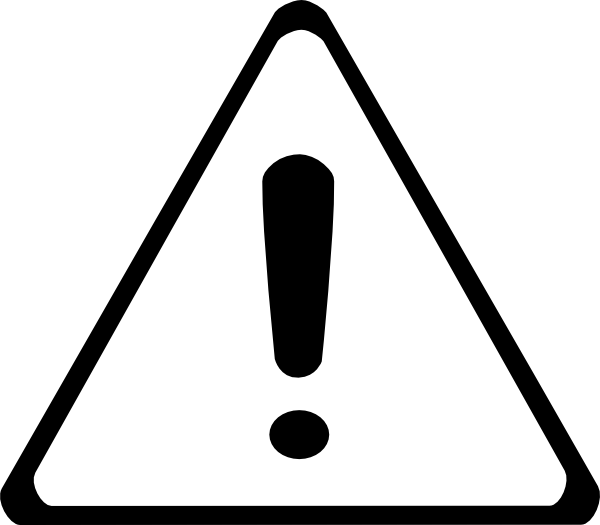 Caution clipart black and white. Sign