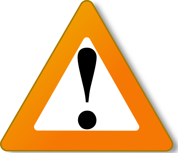 Warning sign clip art. Clipart computer hazard