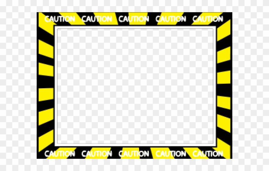 Construction borders tape . Caution clipart border