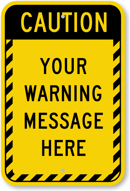 Caution clipart border. Best photos of sign