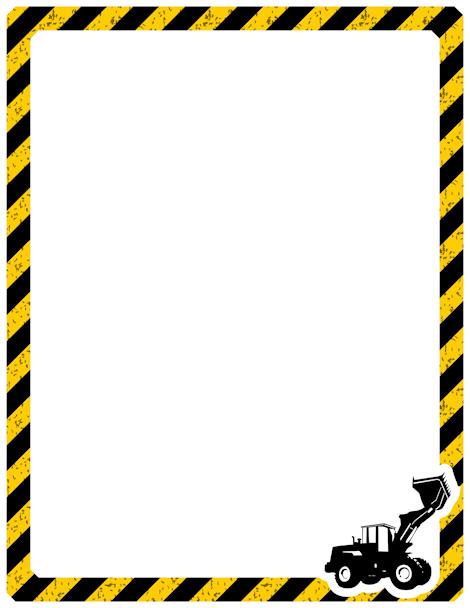Printable construction free gif. Caution clipart border
