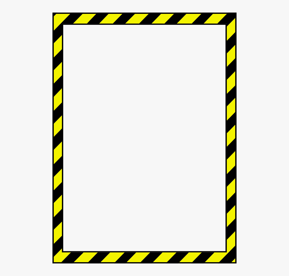 Caution clipart border. Free warning sign page