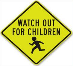 Caution clipart carefully. Free children at play