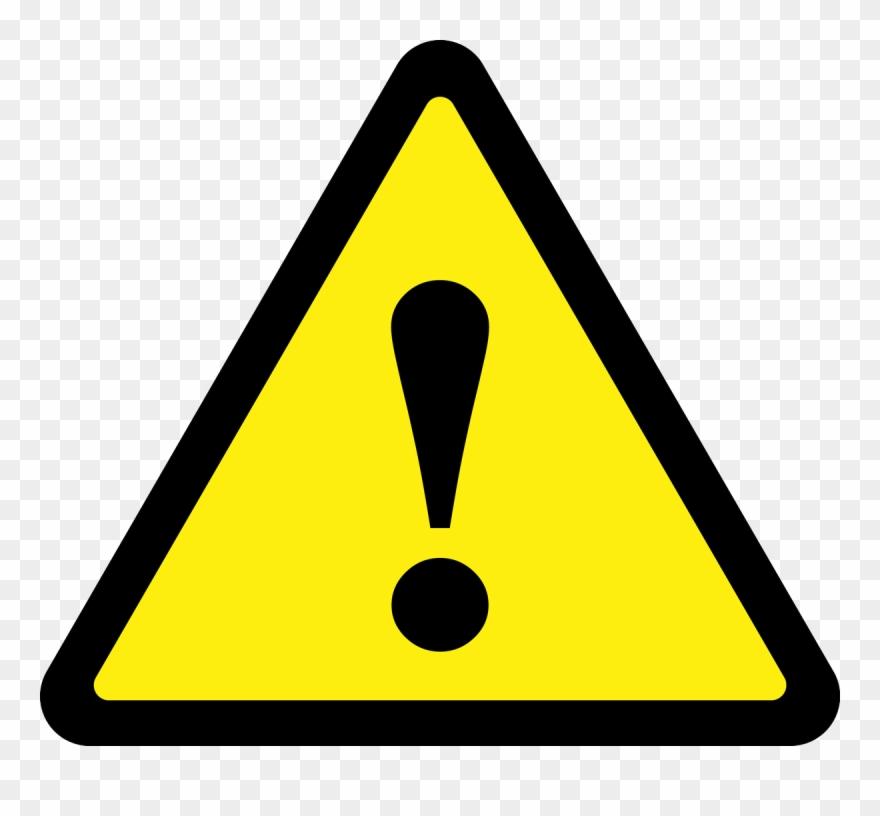Caution clipart caution symbol. Triangle sign