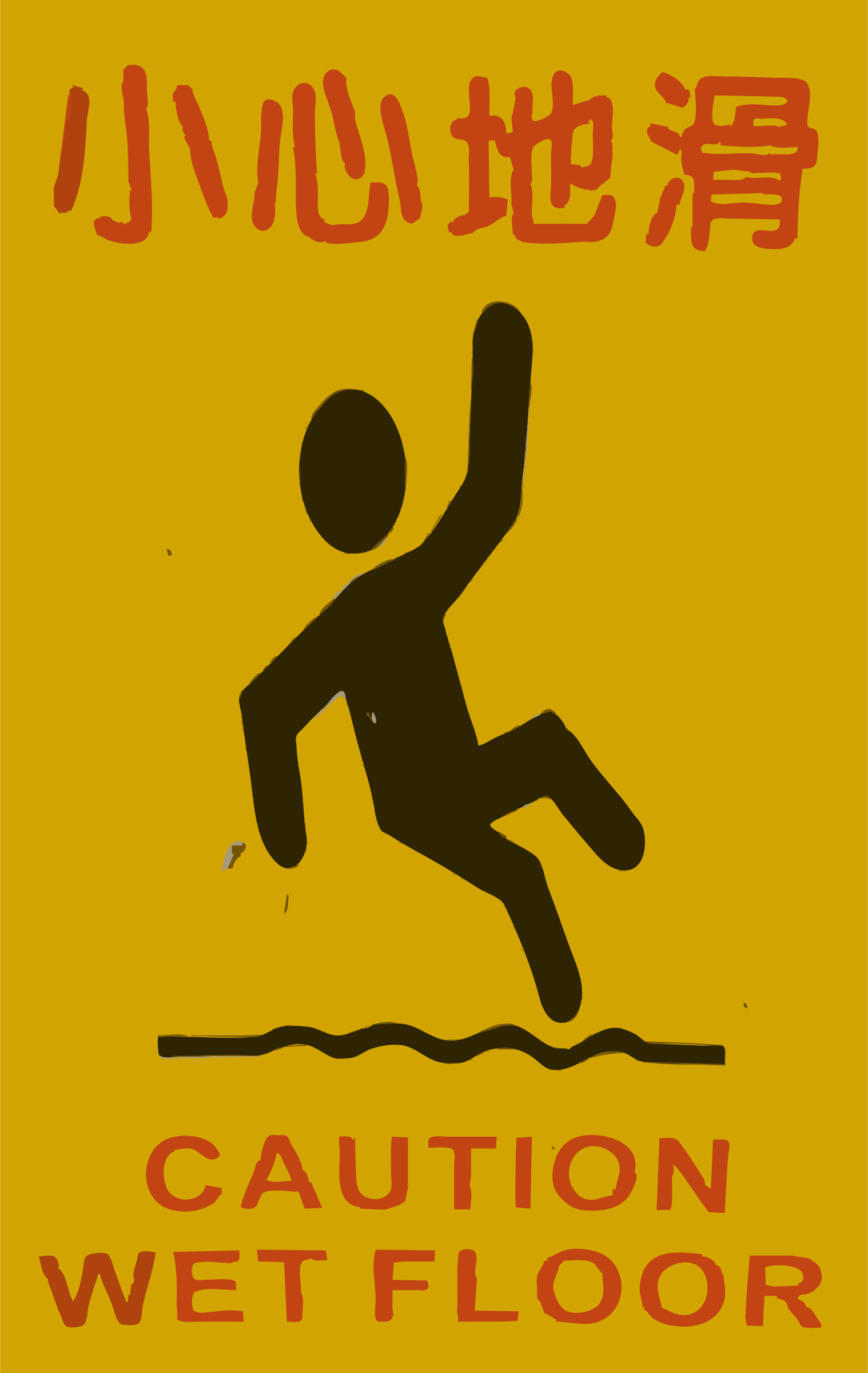 Caution clipart caution wet floor. Chinese big image png